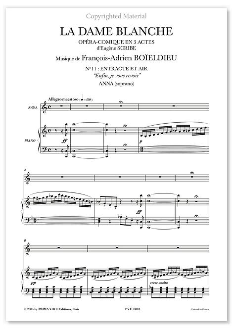 """Boieldieu • DAME BLANCHE (LA) • """"Enfin, je vous revois"""" (soprano)"""