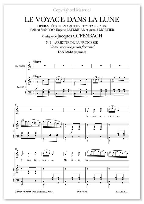"""Offenbach • VOYAGE DANS LA LUNE (LE) • """"Je suis nerveuse..."""" (sop.)"""