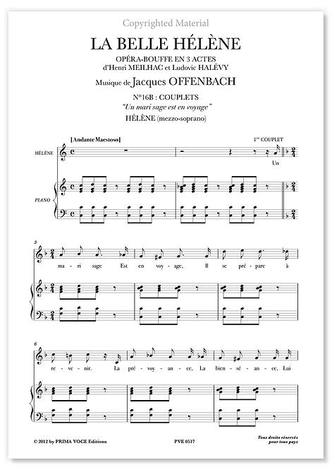 """Offenbach • BELLE HÉLÈNE (LA) • """"Un mari sage Est en voyage"""" (mezzo-soprano)"""
