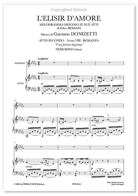 "Donizetti • ELISIR D'AMORE (L') • ""Una furtiva lagrima"" (ténor)"