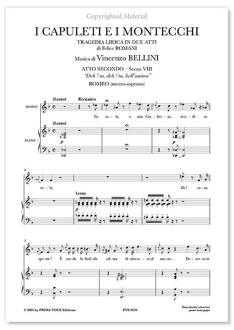 "Bellini • CAPULETI E I MONTECCHI (I) • ""Deh ! tu, deh ! tu, bell'anima"" (mezzo)"