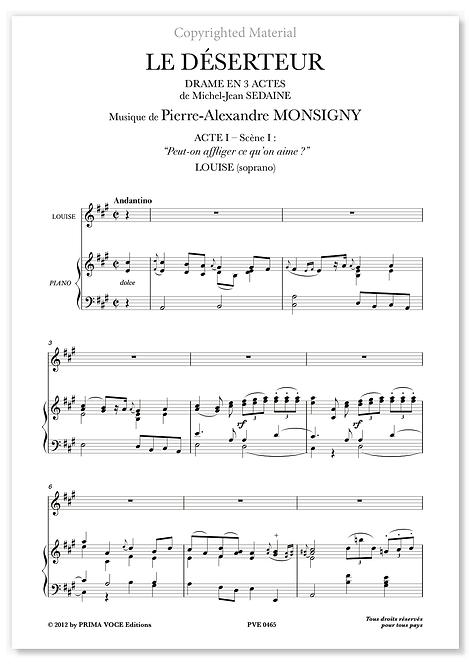 """Monsigny • DÉSERTEUR (LE) • """"Peut-on affliger ce qu'on aime ?"""" (soprano)"""