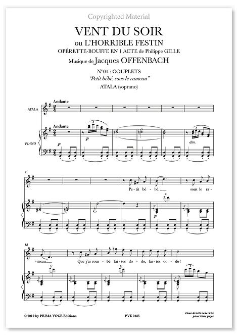 """Offenbach • VENT DU SOIR • """"Petit bébé, sous le rameau"""" (soprano)"""