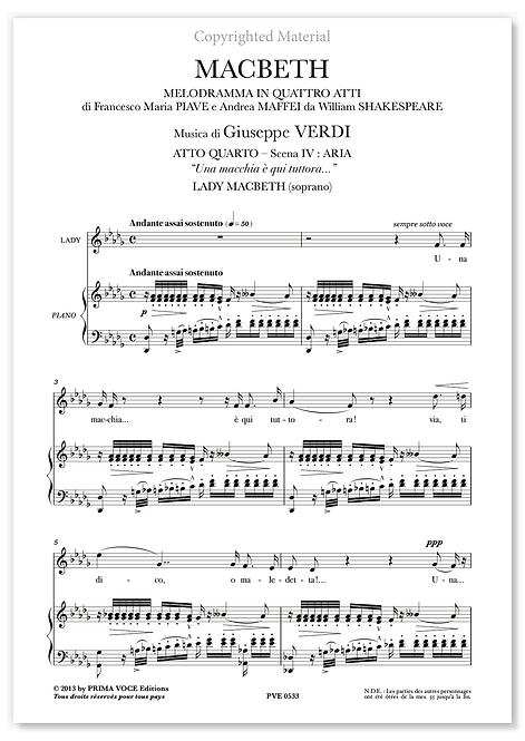 """Verdi • MACBETH • """"Una macchia è qui tuttora..."""" (soprano)"""
