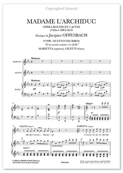 "Offenbach • MADAME L'ARCHIDUC • ""Si tu savais comme t'es drôle"" (sop./tén.)"