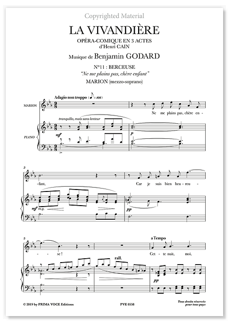 "Godard • LA VIVANDIÈRE • ""Ne me plains pas, chère enfant"" (mezzo-soprano)"