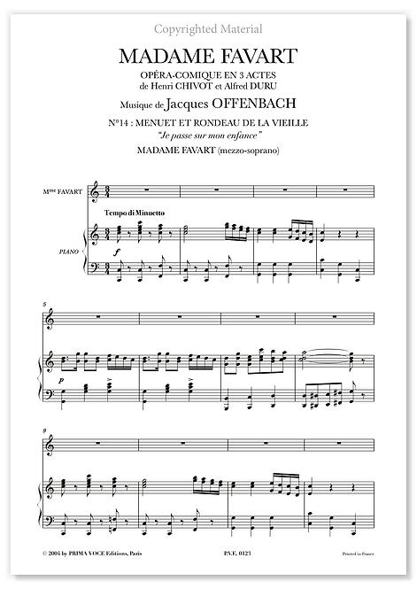 """Offenbach • MADAME  FAVART • """"Je passe sur mon enfance"""" (mezzo-soprano)"""
