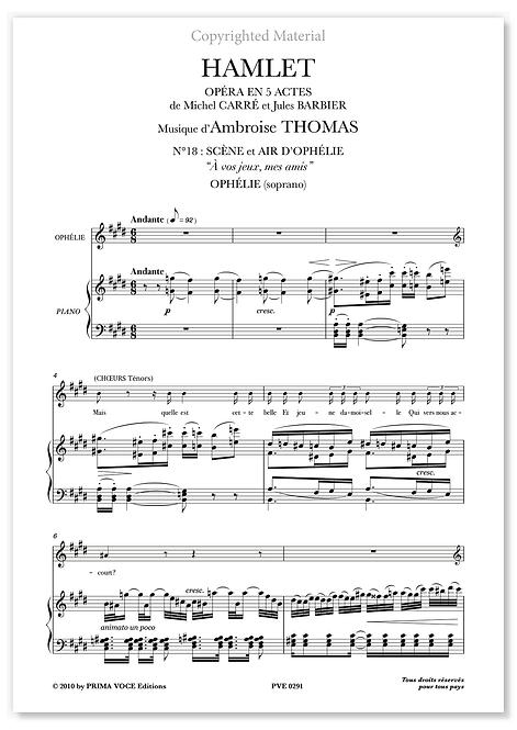 """Thomas • HAMLET – """"À vos jeux, mes amis"""" (soprano)"""