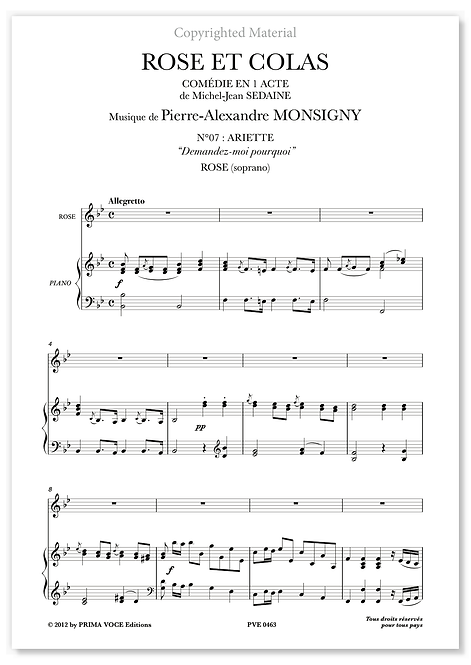 "Monsigny • ROSE ET COLAS • ""Demandez-moi pourquoi"" (soprano)"
