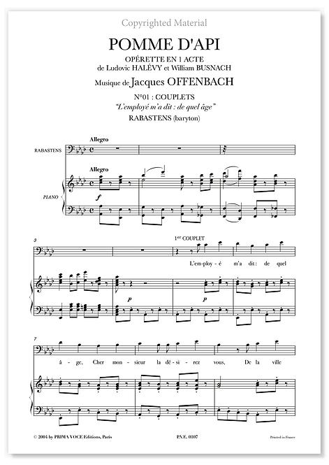 """Offenbach • POMME D'API • """"L'employé m'a dit : de quel âge"""" (baryton)"""
