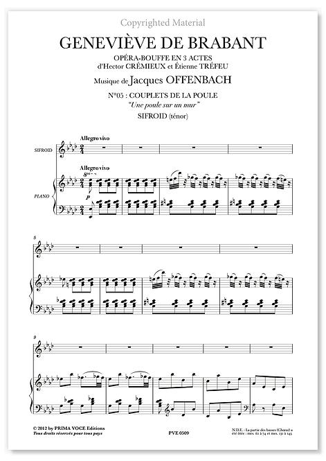 """Offenbach • GENEVIÈVE DE BRABANT • """"Une poule sur un mur"""" (ténor)"""