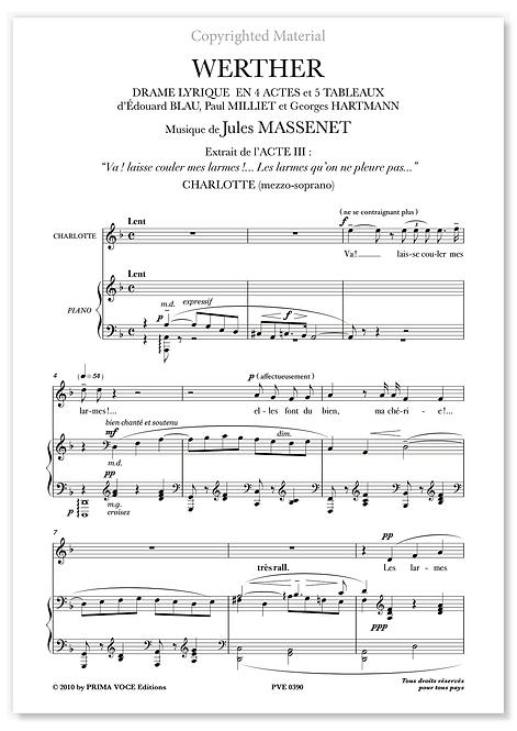 "Massenet • WERTHER • ""Va ! Laisse couler mes larmes"" (mezzo-soprano)"