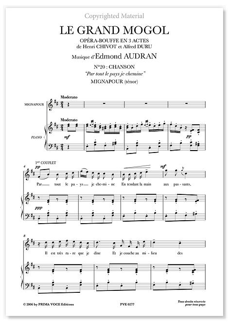 """Audran • GRAND MOGOL (LE) • """"Par tout le pays je chemine"""" (ténor)"""