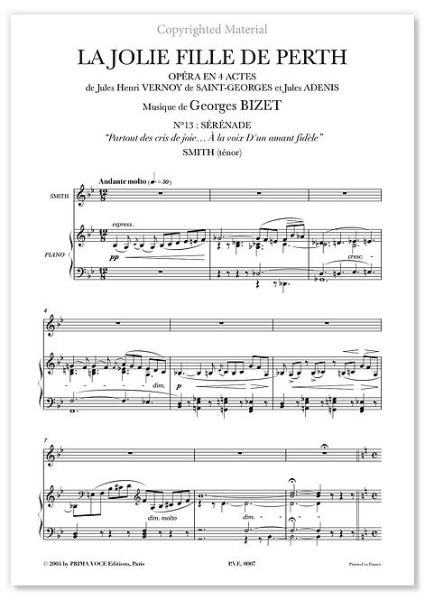 """Bizet • JOLIE FILLE DE PERTH (LA) • """"À la voix D'un amant fidèle"""" (ténor)"""