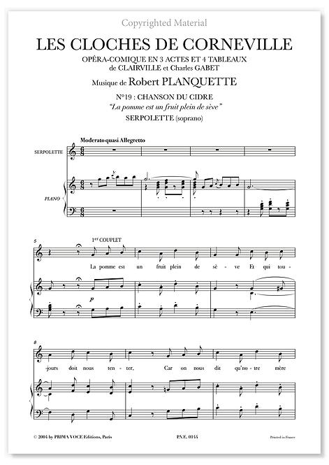 """Planquette • CLOCHES DE CORNEVILLE (LES) • """"La pomme est un fruit..."""" (soprano)"""