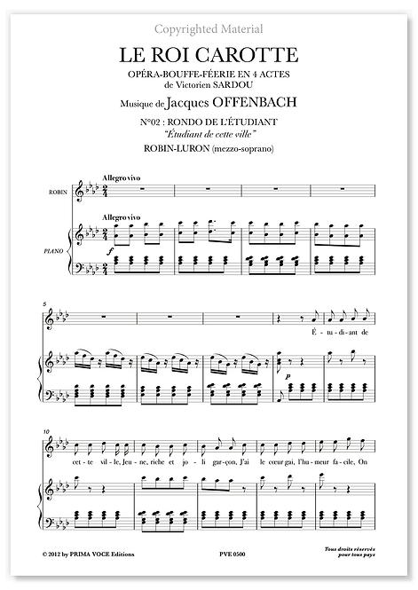 """Offenbach • ROI CAROTTE (LE) • """"Étudiant de cette ville"""" (mezzo-soprano)"""