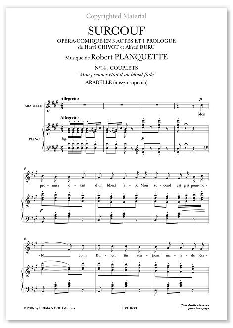 """Planquette • SURCOUF • """"Mon premier était d'un blond fade"""" (mezzo-soprano)"""