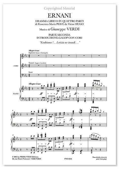 "Verdi • ERNANI • ""Esultiamo !…"" (choeurs)"