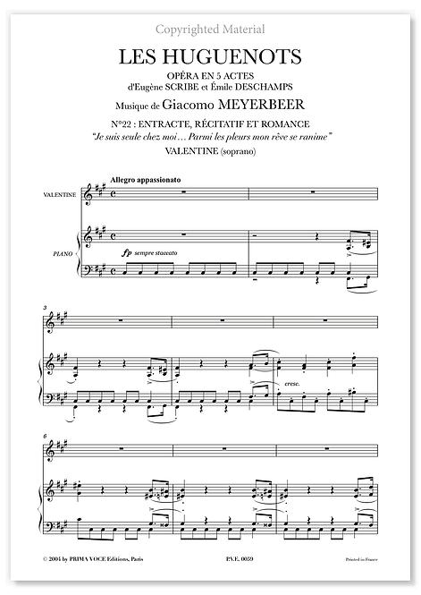 "Meyerbeer • HUGUENOTS (LES) • ""Parmi les pleurs mon rêve se ranime"" (soprano)"