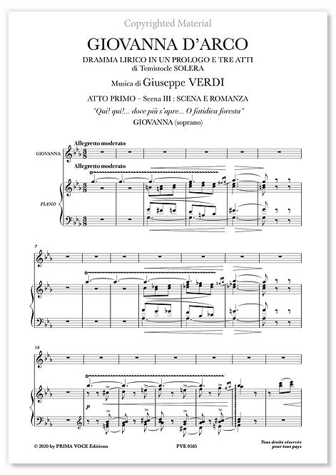 """Verdi • GIOVANNA D'ARCO • """"Qui! qui!... dove più s'apre..."""" (soprano)"""