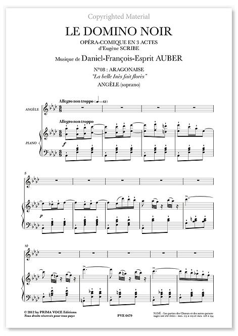 """Auber • DOMINO NOIR (LE) • """"La belle Inès fait florès"""" (soprano)"""