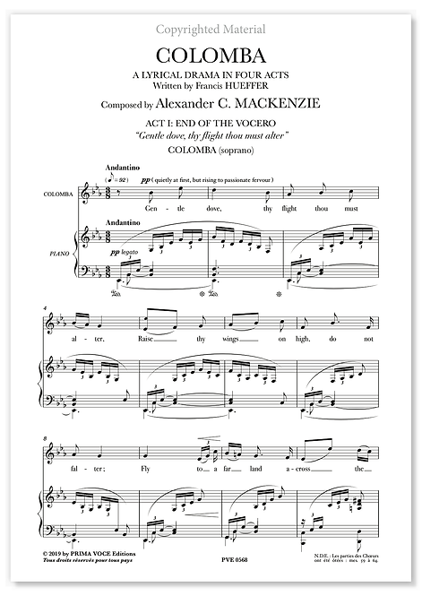 "Mackenzie • COLOMBA • ""Gentle dove, thy flight thou must alter"" (soprano)"