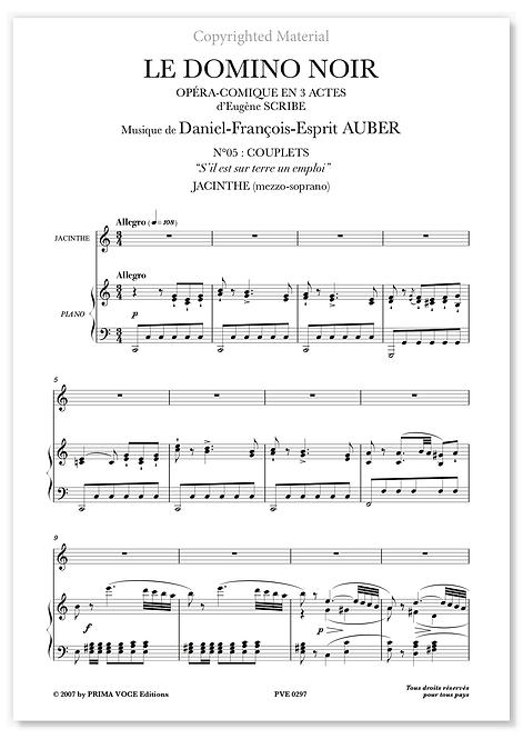 """Auber • DOMINO NOIR (LE) • """"S'il est sur terre un emploi"""" (mezzo-soprano)"""