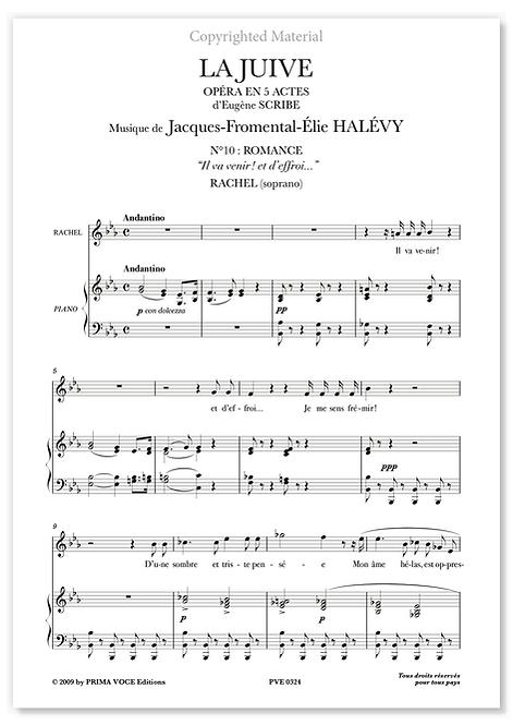 """Halévy • JUIVE (LA) • """"Il va venir ! et d'effroi..."""" (soprano)"""