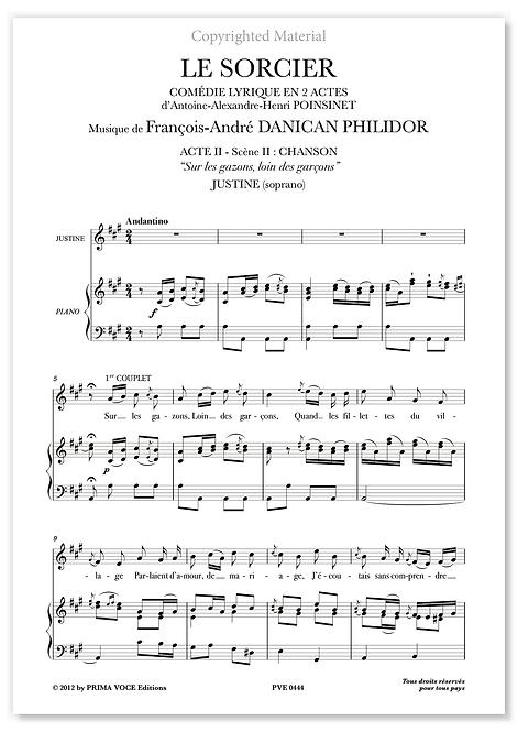 """Philidor • SORCIER (LE) """"Sur les gazons, loin des garçons"""" (soprano)"""