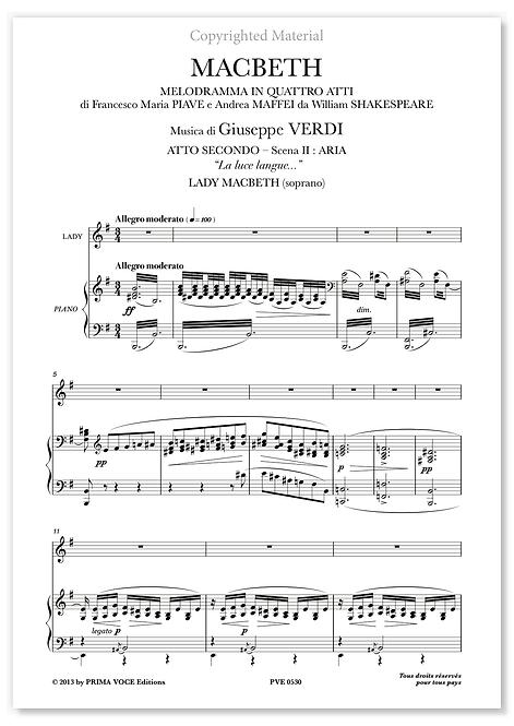 "Verdi • MACBETH • ""La luce langue..."" (soprano)"