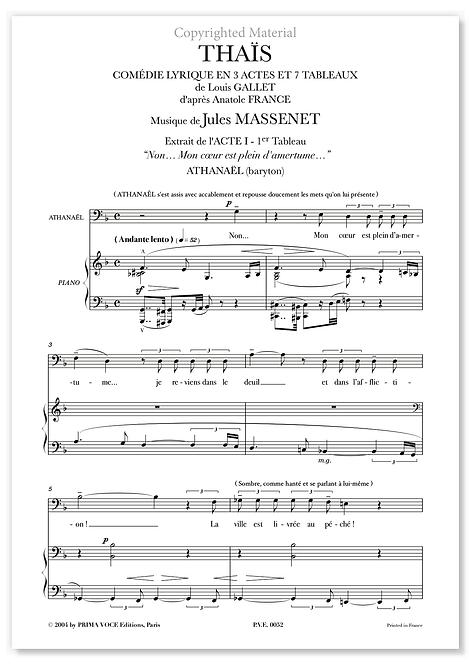 "Massenet • THAÏS • ""Non… Mon coeur est plein d'amertume…"" (baryton)"