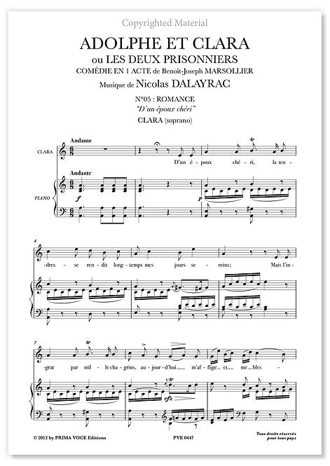 """Dalayrac • ADOLPHE ET CLARA • """"D'un époux chéri"""" (soprano)"""