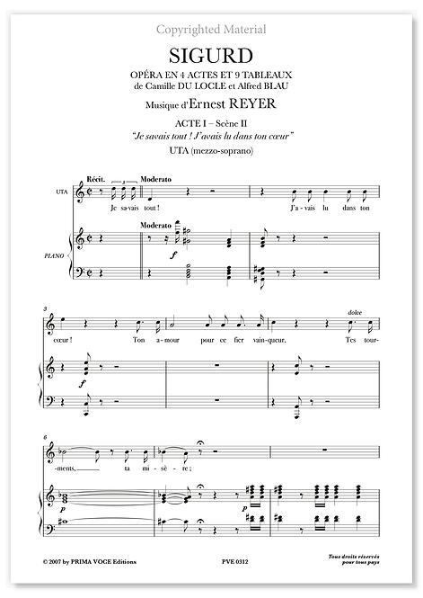"""Reyer • SIGURD • """"Je savais tout! J'avais lu dans ton coeur"""" (mezzo-soprano)"""