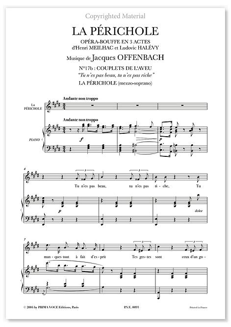 """Offenbach • PÉRICHOLE (LA) • """"Tu n'es pas beau, tu n'es pas riche"""" (mezzo)"""
