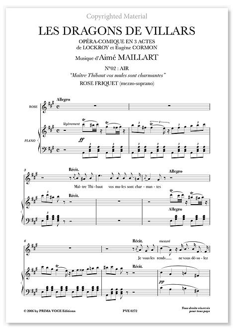 "Maillart • DRAGONS DE VILLARS (LES) – ""Maître Thibaut vos mules..."" (mezzo)"