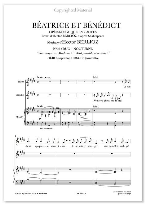 """Berlioz • BÉATRICE ET BÉNÉDICT • """"Nuit paisible et sereine!"""" (sop./contralto)"""