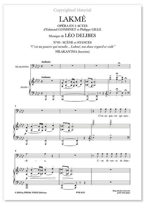 """Delibes • LAKMÉ • """"Lakmé, ton doux regard se voile"""" (baryton)"""