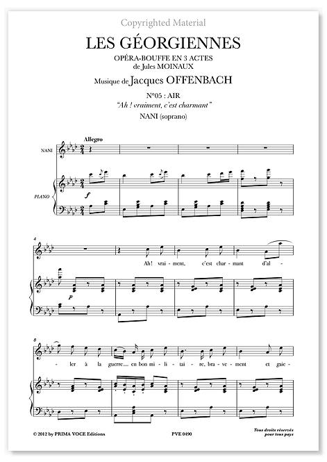 """Offenbach • GÉORGIENNES (LES) • """"Ah ! vraiment, c'est charmant"""" (soprano)"""
