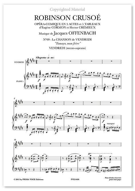 """Offenbach • ROBINSON CRUSOÉ • """"Tamayo mon frère"""" (mezzo-soprano)"""