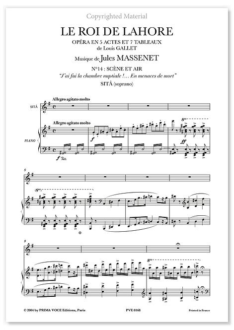 """Massenet • ROI DE LAHORE (LE) – """"En menaces de mort"""" (soprano)"""