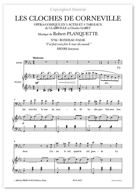 """Planquette • CLOCHES DE CORNEVILLE (LES) • """"J'ai fait trois fois..."""" (baryton)"""