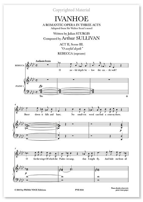 "Sullivan • IVANHOE • ""O awful depth"" (soprano)"