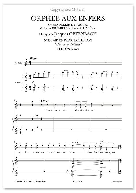 """Offenbach • ORPHÉE AUX ENFERS • """"Heureuses divinités"""" (ténor)"""