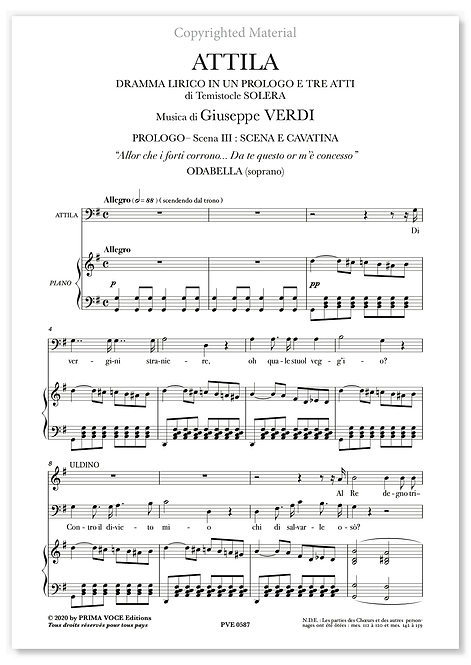 """Verdi • ATTILA • """"Allor che i forti corrono..."""" (soprano)"""