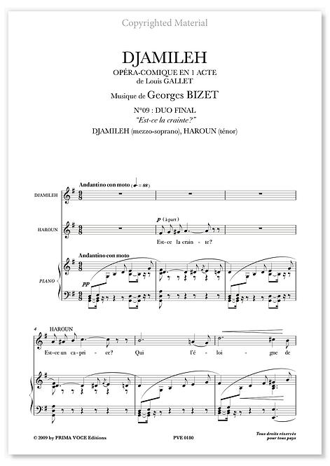 "Bizet • DJAMILEH • DUO ""Est-ce la crainte ?"" (mezzo/tén.)"