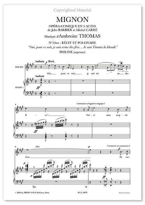 """Thomas • MIGNON • """"Je suis Titania la blonde"""" (soprano)"""