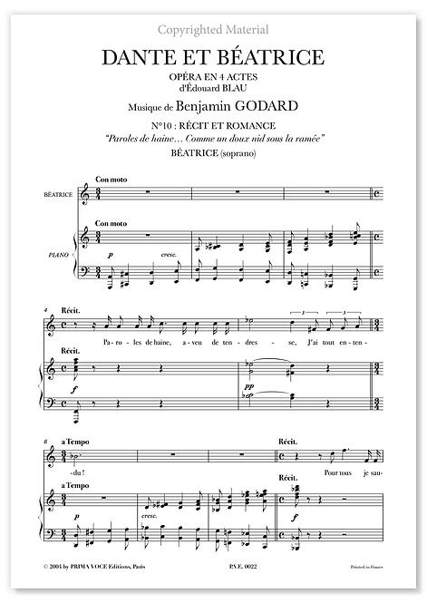 """Godard • DANTE ET BÉATRICE • """"Comme un doux nid sous la ramée"""" (soprano)"""