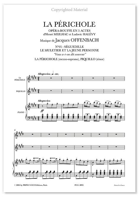 """Offenbach • PÉRICHOLE (LA) • DUO : """"Vous a-t-on dit souvent"""" (mezzo/tén.)"""