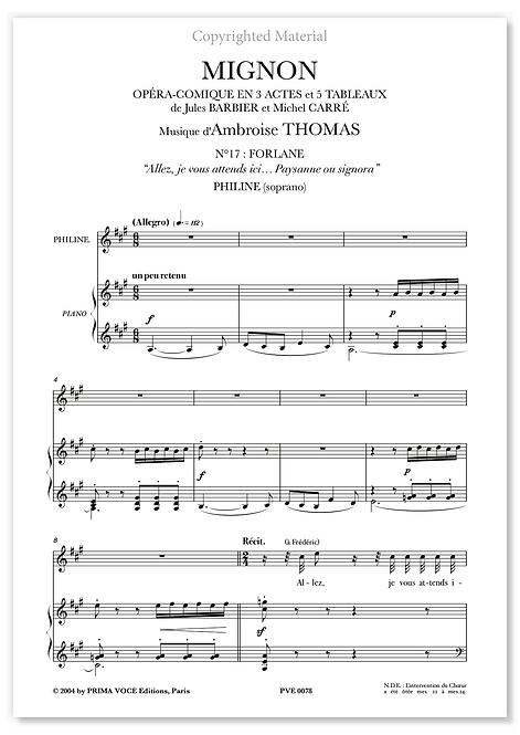 """Thomas • MIGNON • """"Paysanne ou signora"""" (soprano)"""