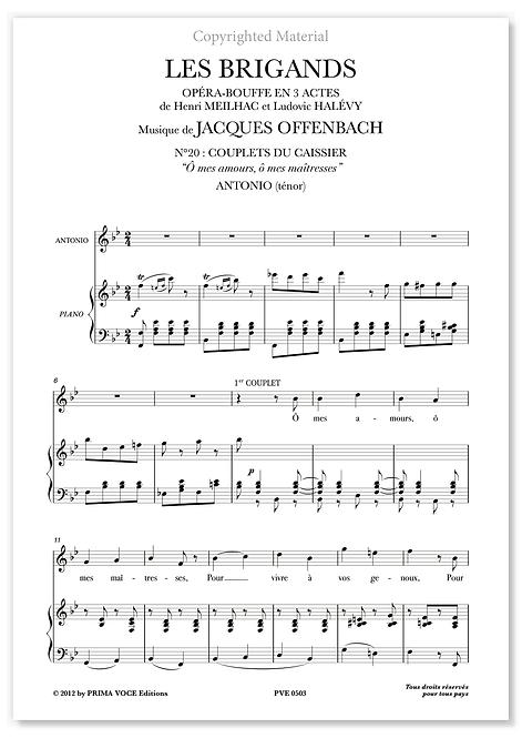 """Offenbach • BRIGANDS (LES) • """"Ô mes amours, ô mes maîtresses"""" (ténor)"""